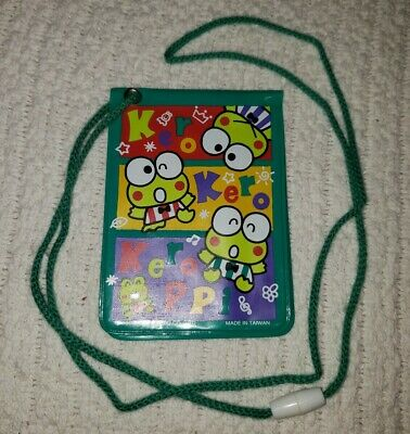 Sanrio Keroppi Badge ID Card Holder Lanyard Rare Mint Ventage 1993 Never Used