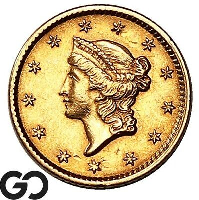 1852 Gold Dollar, $1 Gold Liberty, Type 1, Investment Piece