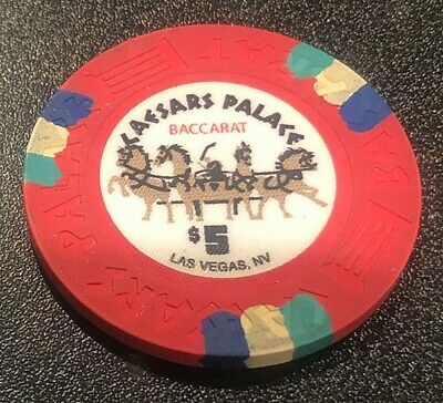 Oversized $5 Baccarat chip from the Caesars Palace in Las Vegas