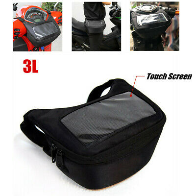 1×Motorcycle Handlebar Front Storage Bag Waistpack Touch Screen w/Headphone Hole