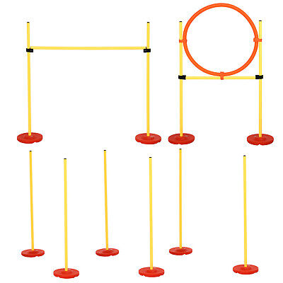 PawHut Outdoor 3 PC Dog Pet Agility Training Garden Starter Obstacle Set for Dog