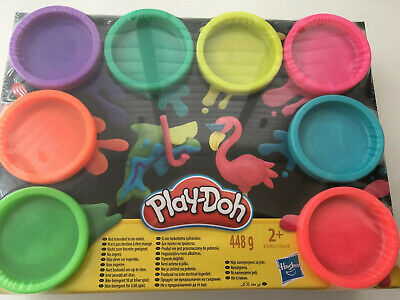 Play-Doh Neon Starter Set 8 Tub 448g 12oz Modelling Craft Set with 3 Cutters