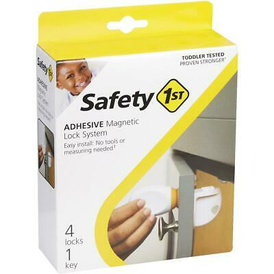 Safety 1st Plastic Adhesive Magnetic Lock System (4-Lock Set) HS293  - 1 Each