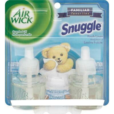 Air Wick Snuggle Fresh Linen Scented Oil Refill (2-Pack) 6233882291  - 1 Each