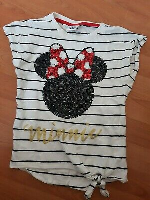 Girls Minnie mouse Top Age 7-8 Years
