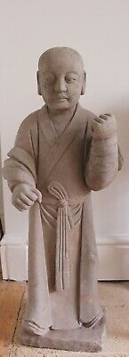 A Superbly Carved  Large Yuan Dynasty Stone Attendant
