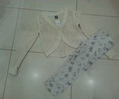 BNWT Girls GAP cream cardigan & BNWOT NEXT leggins size 4-5yrs