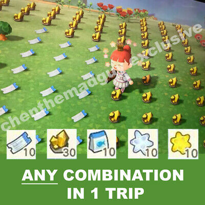 Pick ANY Material in 1 Trip | NMT Gold Bait Star | Animal Crossing New Horizons