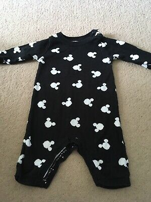 Baby Boys / Girls Knit Romper George Disney Mickey Mouse 0-3m