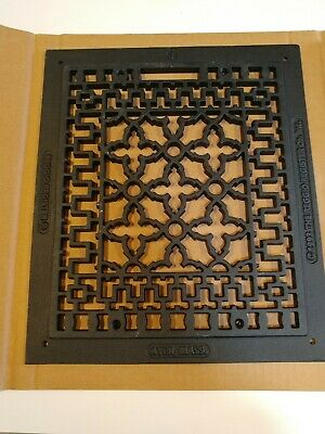 Reggio Black Cast Iron Heat Register Grille  12x14""