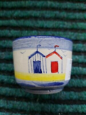 New Studio Poole Beach Huts Eggcup Holder  1.5 Inches High