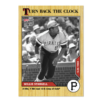 2020 MLB TOPPS NOW Turn Back The Clock Willie Stargell Card 53