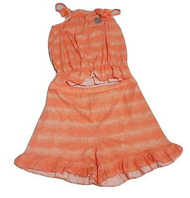 New Girls Coral Tie-dye 2 Piece Top and Shorts Set by George (12-13 Years)