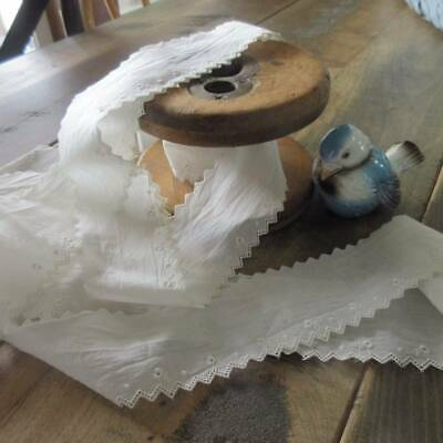 Delicate ANTIQUE LACE TRIM Tiny Roses DOLL Dressing 210x2""