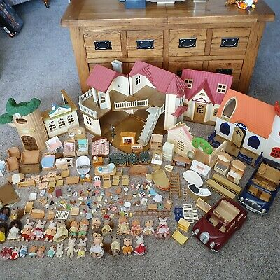Calico Critters Huge Sylvanian Families Figures Furniture Accessories