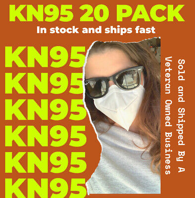 [20 PACK] KN95 Disposable Protective Face Mask 5-LAYERS - USA SELLER -SHIPS FAST