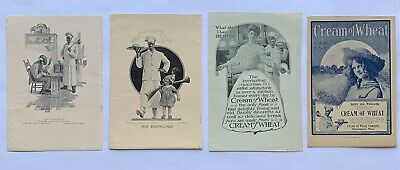 Vintage Early 1900's Cream Of Wheat Lot Of 9 Print Ads Black Americana