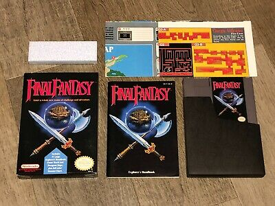 Final Fantasy Nintendo Nes Complete CIB Excellent Condition Tested Authentic
