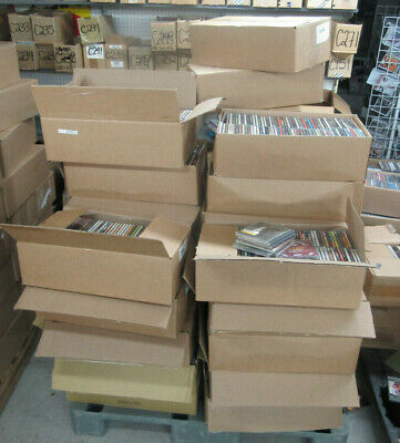 New Sealed Lot Of 1000 Cd's Shelf Pulls Assorted Mix Of Styles, & Genre's