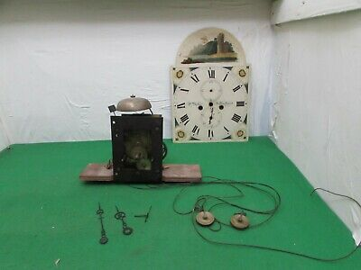"Late 18th Century Longcase Clock Movement Signed D. Baker Billinghurst 12"" X 17"""
