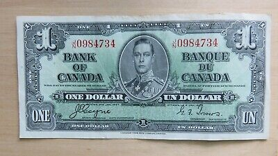 1937 Bank of Canada $1 One dollar Coyne-Towers VF