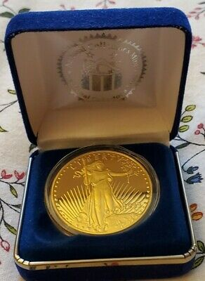 Double Eagle Proof - Copy -1933 $20 GOLD COIN - 24k Gold Clad Bronze St. Gaudens