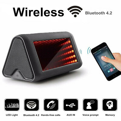 Wireless bluetooth Stereo Speaker RGB LED Light Lamp Effects Pulsating