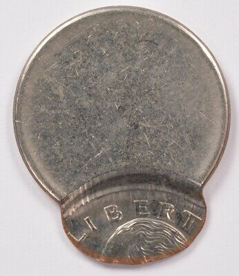 25c Clad Washington Quarter 85% Off-Center & Uniface Reverse BU (3041)