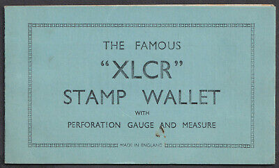 "The Famous ""XLCR"" Stamp Wallet with Perforation Guage and Measure; Vintage Used"