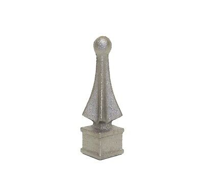 "5/8"" Cast Iron Ball Point Finial Decorative Ornamental Fence Gate Topper"