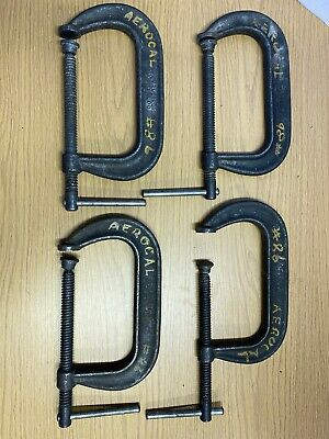 Armstrong No. 406 Heavy Duty C- clamp  LOT OF 4