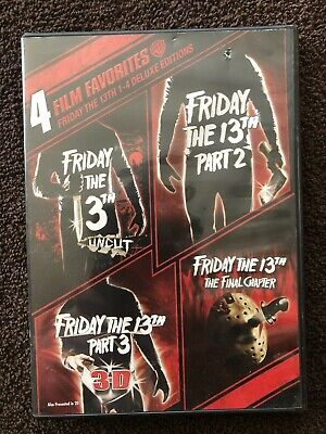 Friday the 13th Parts I-4  (DVD, 2017, 4-Disc Set) Film Favorites Deluxe Edition
