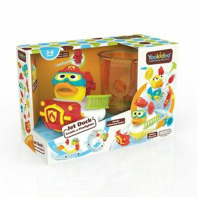 Yookidoo Jet Duck Firefighter Bath Toy with Powered Water Hydrant Shooter
