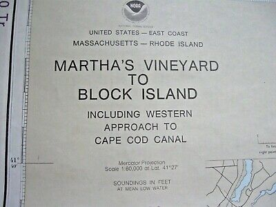 Navigational Map - Martha's Vineyard To Block Island (Ma,Ri) Instructional Chart