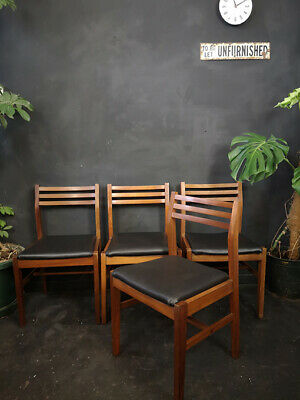 4 Vintage Mid Century Dining Chairs