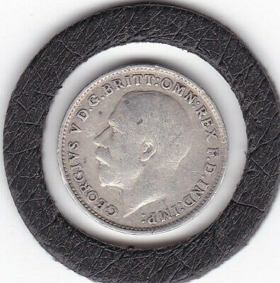 1919   King  George   V  Threepence  (3d)  Silver (92.5%) Coin