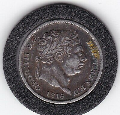 Very  Sharp  1816   King  George  III   Sterling  Silver  Shilling  British Coin