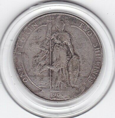 1906    King   Edward  VII   Florin  (2/-)   Silver (92.5%)  Coin
