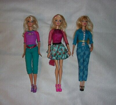 3 Barbie Dolls – All Dolls Have Blonde Hair / Blue Eyes - Dressed w/ Shoes