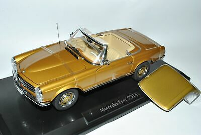 Mercedes-Benz 230SL Pagode Roadster Gold W113 1963-1971 1/18 Norev Modell Auto m