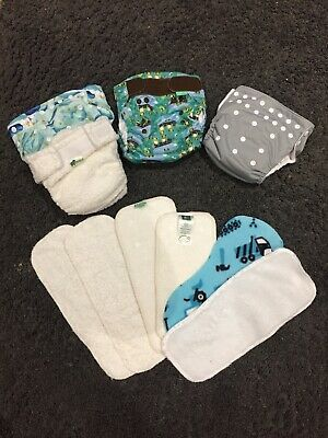 Re-usable Nappy Bundle, Little Lamb, Tots Bots And Thirsties