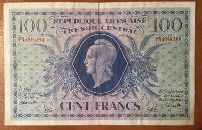 FRANCE - 100 Fr Mariane Type 1943. - Corsica