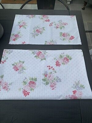"""The Little White Company """"Isabella"""" Cot Bed linen, Duvet + Pillowcase Exc Cond"""