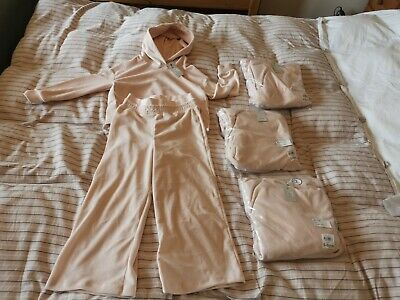 BNWT 4 X girls velour hoody and jog pants sets by RIVER ISLAND size 5-6 years