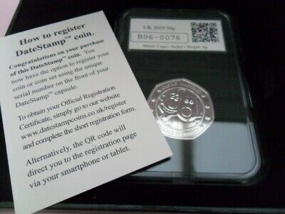 2019 Official UK Date-Stamped Wallace & Gromit 50p BUNC Coin Limited 500 No76