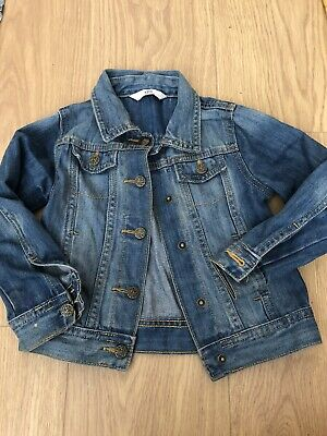 Young Girls M&S Denim Jean Jacket 3-4 years Used Good Condition