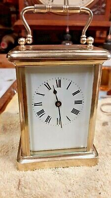 Superb French Carriage Clock with cylinder escapement