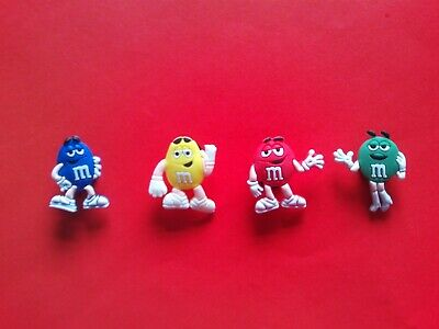 4 M & M Sweets Chocolates Characters jibbitz crocs shoe charms cake toppers