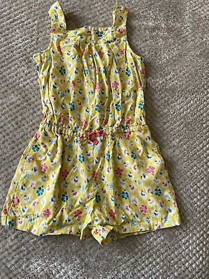 Mini Boden Girls Short Floral Summer Playsuit Age 7 To 8 Years