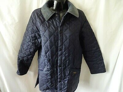 BARBOUR Childrens Blue Quilted Liddlesdale Jacket XL